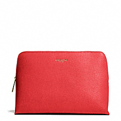 COACH SAFFIANO LEATHER COSMETIC CASE - ONE COLOR - F49748