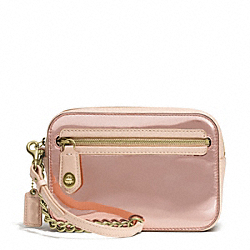 COACH POPPY MIRROR METALLIC LEATHER FLIGHT WRISTLET - LIGHT GOLD/ROSE GOLD - F49754