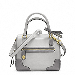 COACH POPPY COLORBLOCK LEATHER MINI SATCHEL - LI/LIGHT GREY - F49757
