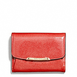 COACH MADISON PATENT LEATHER FLAP CARD CASE - ONE COLOR - F49789
