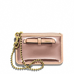 COACH POPPY MIRROR METALLIC ID SKINNY - Light Gold/ROSE GOLD - F49804