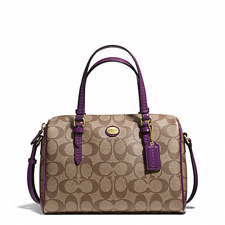 COACH f49862 PEYTON SIGNATURE BENNETT MINI SATCHEL