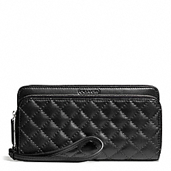 PARK QUILTED LEATHER DOUBLE ACCORDION ZIP COACH F49870
