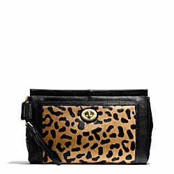 PARK HAIRCALF LARGE CLUTCH COACH F49871