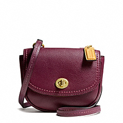 COACH PARK LEATHER MINI CROSSBODY - BRASS/BURGUNDY - F49872