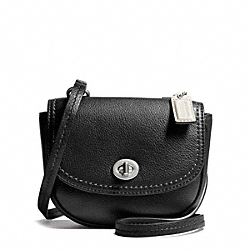 COACH PARK LEATHER MINI CROSSBODY - SILVER/BLACK - F49872