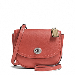 COACH PARK LEATHER MINI CROSSBODY - SILVER/SIENNA - F49872