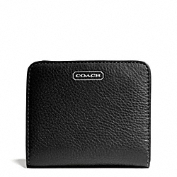 COACH PARK LEATHER SMALL WALLET - SILVER/BLACK - F49879