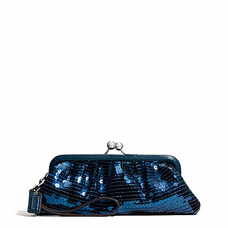 COACH OCCASION SEQUIN FRAMED BAG - SILVER/TEAL - f49900