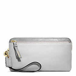 COACH POPPY COLORBLOCK LEATHER DOUBLE ZIP WALLET - ONE COLOR - F49938
