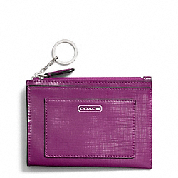 COACH DARCY PATENT LEATHER MEDIUM SKINNY - SILVER/AMETHYST - F49966