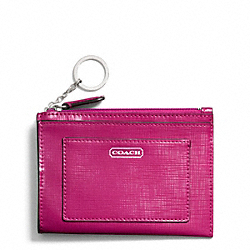 COACH DARCY PATENT LEATHER MEDIUM SKINNY - SILVER/BRIGHT MAGENTA - F49966