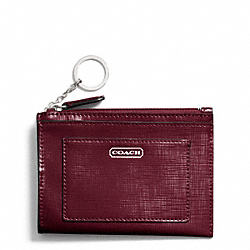 COACH DARCY PATENT LEATHER MEDIUM SKINNY - SILVER/BURGUNDY - F49966