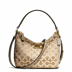 COACH MADISON OP ART SATEEN TOP HANDLE - LIGHT GOLD/LIGHT KHAKI/CHAMPAGNE - F49975