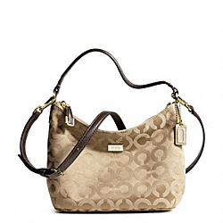 COACH MADISON OP ART SATEEN TOP HANDLE - LIGHT GOLD/KHAKI/MAHOGANY - F49975