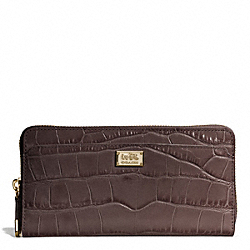 COACH MADISON EMBOSSED CROC ACCORDION ZIP WALLET - ONE COLOR - F49976