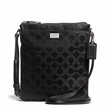 COACH f49981 MADISON SWINGPACK IN OP ART SATEEN FABRIC