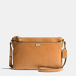 MADISON SWINGPACK IN LEATHER - LIGHT GOLD/BURNT CAMEL - COACH F49992