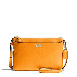 COACH MADISON LEATHER SWINGPACK - LIGHT GOLD/BRIGHT MANDARIN - F49992