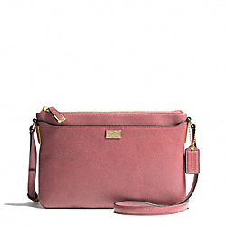 MADISON LEATHER SWINGPACK - LIGHT GOLD/ROUGE - COACH F49992