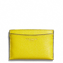 COACH FLAT CARD CASE IN SAFFIANO LEATHER - ONE COLOR - F49996