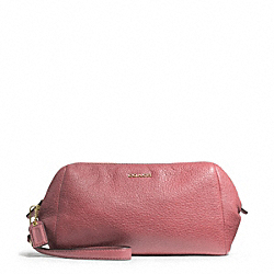 COACH MADISON LEATHER ZIP TOP LARGE WRISTLET - LIGHT GOLD/ROUGE - F49997