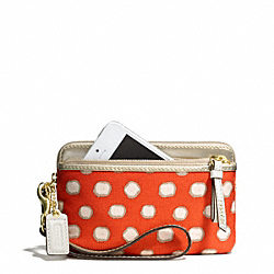 COACH POPPY MINI DOT DOUBLE ZIP WRISTLET - ONE COLOR - F50004