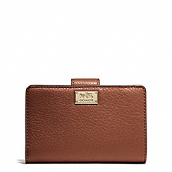 COACH MADISON LEATHER L-ZIP MEDIUM WALLET - ONE COLOR - F50014