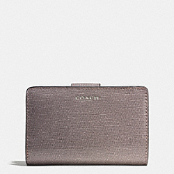 COACH L-ZIP MEDIUM WALLET IN SAFFIANO LEATHER - QBD0C - F50018