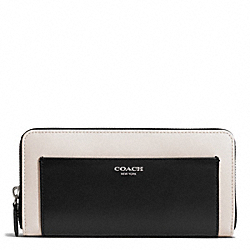 COACH TWO TONE LEATHER ACCORDION ZIP - ONE COLOR - F50038