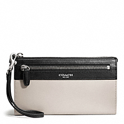 COACH TWO TONE LEATHER ZIPPY WALLET - ONE COLOR - F50039