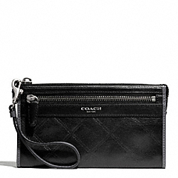 COACH ZIPPY WALLET IN QUILTED LEATHER - ONE COLOR - F50049