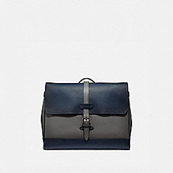 HUDSON MESSENGER IN COLORBLOCK - HEATHER GREY MULTI/BLACK ANTIQUE NICKEL - COACH F50055