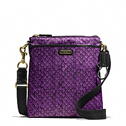 COACH TAYLOR SNAKE PRINT SWINGPACK - ONE COLOR - F50065