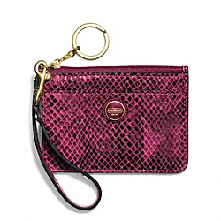 COACH SIGNATURE STRIPE EMBOSSED EXOTIC ID SKINNY - ONE COLOR - F50067