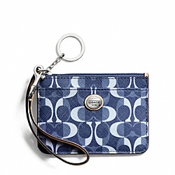 COACH PEYTON DREAM C ID SKINNY - SILVER/DENIM/TAN - F50077