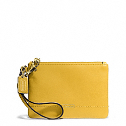 COACH CAMPBELL LEATHER SMALL WRISTLET - BRASS/SUNFLOWER - F50078