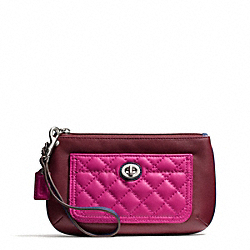 PARK QUILTED LEATHER MEDIUM WRISTLET COACH F50097