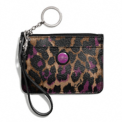 COACH SIGNATURE STRIPE OCELOT PRINT ID SKINNY - ONE COLOR - F50104