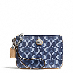 COACH PEYTON DREAM C SMALL WRISTLET - SILVER/DENIM/TAN - F50108