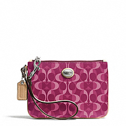 COACH PEYTON DREAM C SMALL WRISTLET - SILVER/BORDEAUX/TAN - F50108