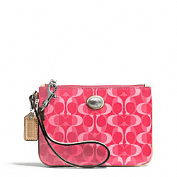 COACH PEYTON DREAM C SMALL WRISTLET - SILVER/BRIGHT CORAL/TAN - F50108