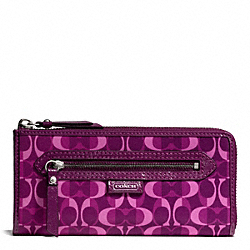 COACH DAISY SPLIT SIGNATURE C PRINT SLIM ZIP - ONE COLOR - F50120