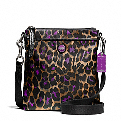 COACH SIGNATURE STRIPE OCELOT PRINT SWINGPACK - ONE COLOR - F50137