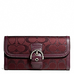 COACH CAMPBELL SIGNATURE METALLIC BUCKLE SLIM ENVELOPE - ONE COLOR - F50138