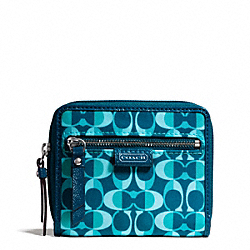 COACH DAISY SPLIT SIGNATURE C PRINT MEDIUM ZIP AROUND - ONE COLOR - F50143