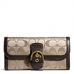 CAMPBELL SIGNATURE BUCKLE SLIM ENVELOPE COACH F50149