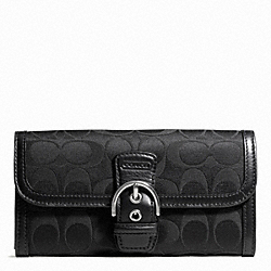COACH CAMPBELL SIGNATURE BUCKLE SLIM ENVELOPE - ONE COLOR - F50149
