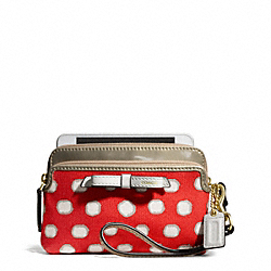 COACH POPPY MINI DOT ZIP WRISTLET - ONE COLOR - F50166