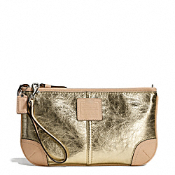 COACH METALLIC LARGE WRISTLET - ONE COLOR - F50169
